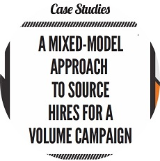 A mixed-model approach to source hires for a volume campaign